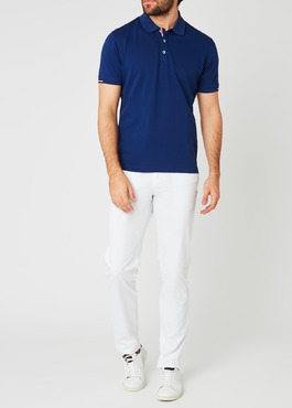 Chino slack skinny en coton stretch blanc uni 2 - Father And Sons