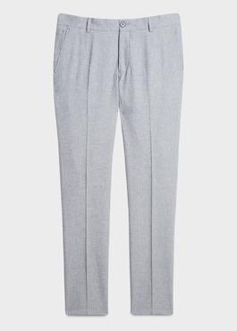 Pantalon coordonnable skinny en lin mélangé gris 1 - Father And Sons