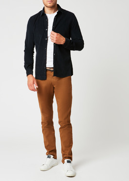 Chino slack skinny en satin camel à motif fantaisie 2 - Father And Sons