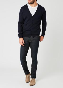 Cardigan en coton uni bleu marine 2 - Father And Sons