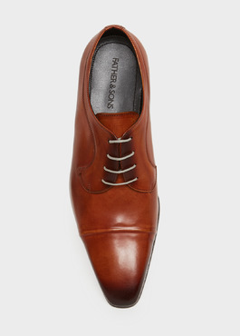 Derbys en cuir lisse caramel 2 - Father And Sons
