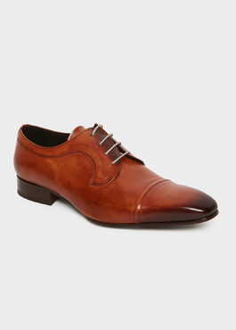 Derbys en cuir lisse caramel 1 - Father And Sons