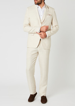 Veste coordonnable Regular en lin beige 2 - Father And Sons