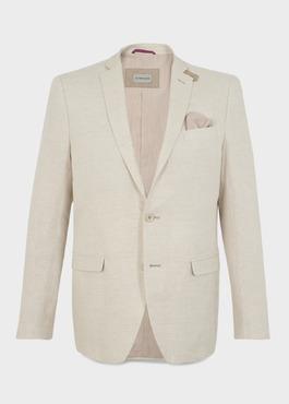 Veste coordonnable Regular en lin beige 1 - Father And Sons