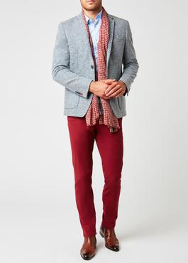 Veste casual Regular en coton façonné uni bleu 2 - Father And Sons
