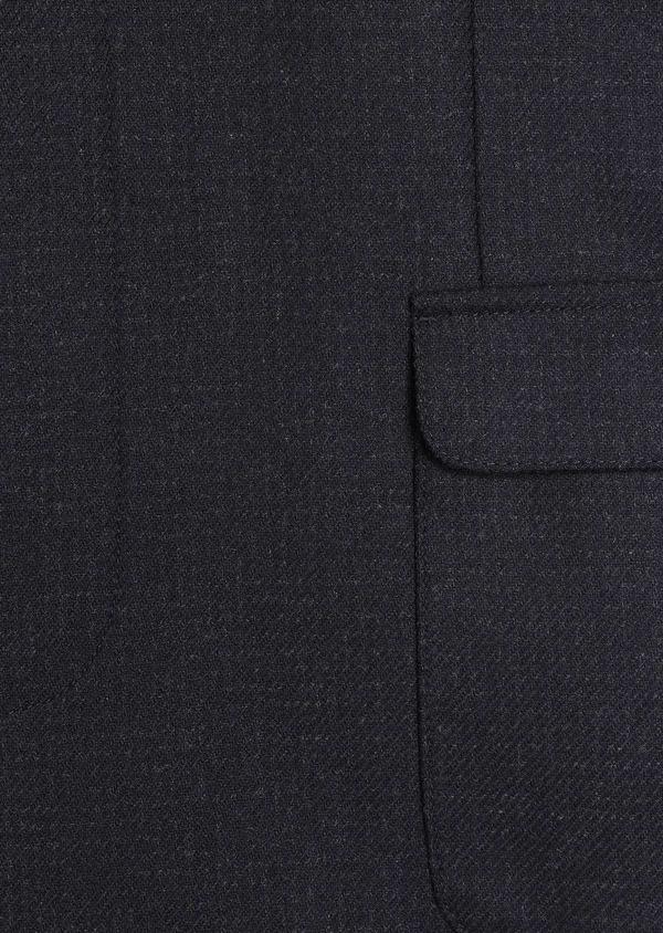 Manteau en laine à carreaux bleu marine - Father and Sons 30729