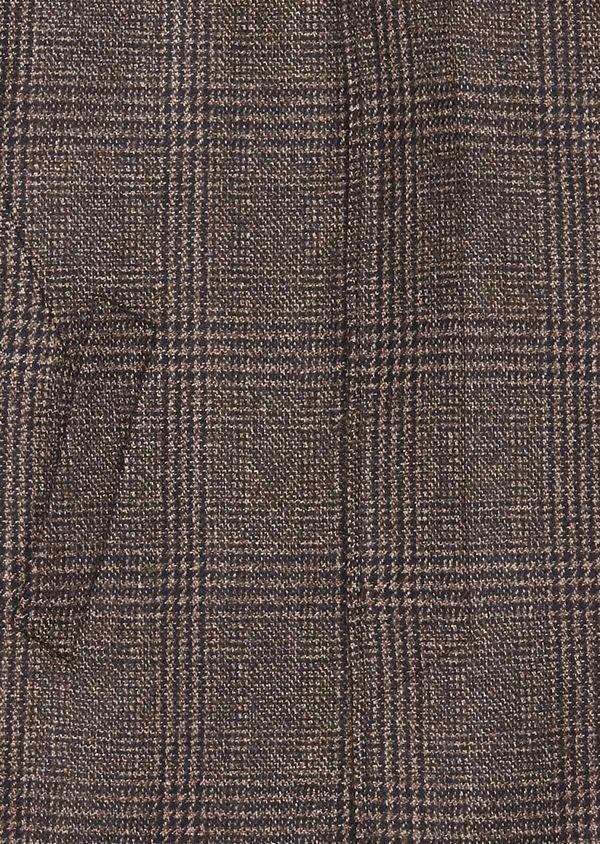 Manteau en laine à motif fantaisie marron foncé - Father and Sons 30749