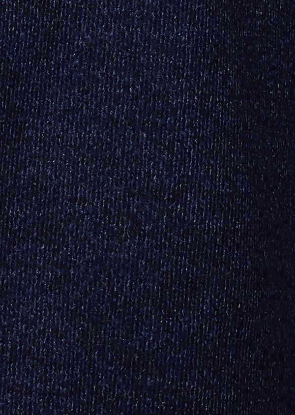 Manteau en laine à motif fantaisie bleu indigo - Father and Sons 26848