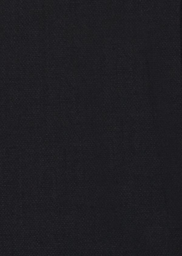 Manteau en laine mélangée unie bleu indigo - Father and Sons 27844