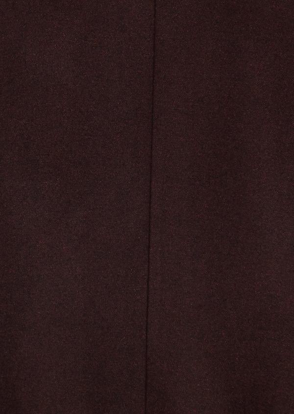 Manteau en laine mélangée unie rouge foncé - Father and Sons 27862