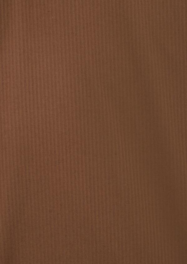 Bermuda slack en coton stretch marron à rayures - Father and Sons 39791