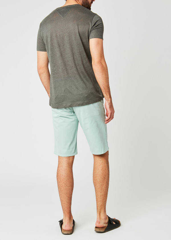 Bermuda en coton stretch uni vert clair - Father and Sons 20042