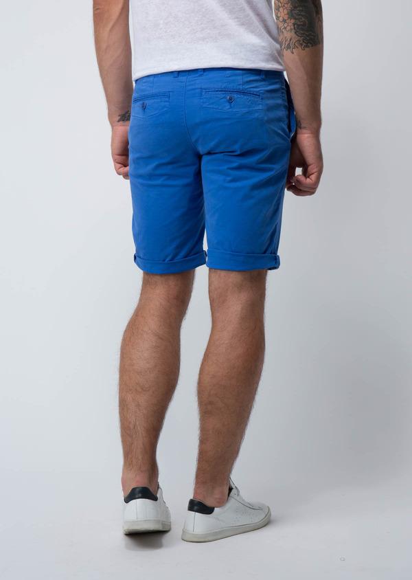 Bermuda en coton stretch uni bleu azur - Father and Sons 18867