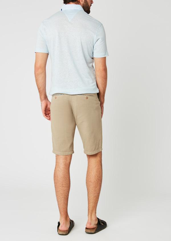 Bermuda en coton uni beige - Father and Sons 20396