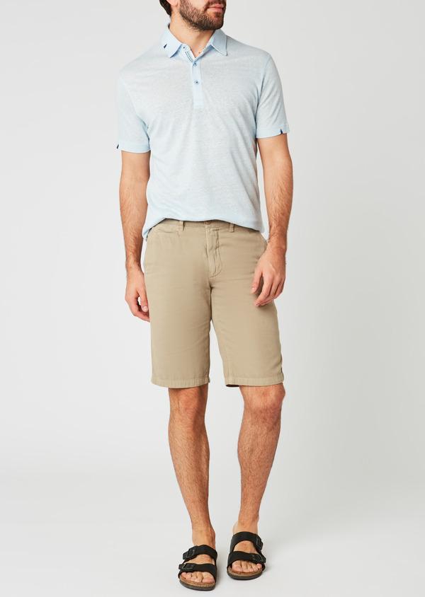 Bermuda en coton uni beige - Father and Sons 20395