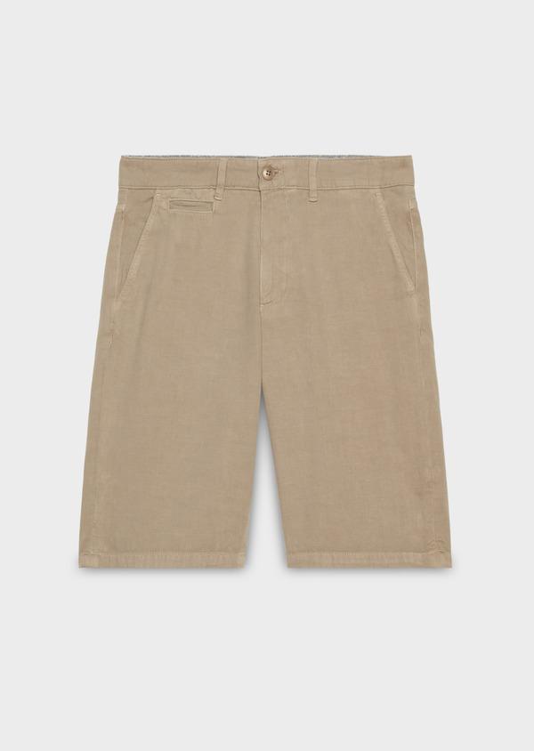 Bermuda en coton uni beige - Father and Sons 20393