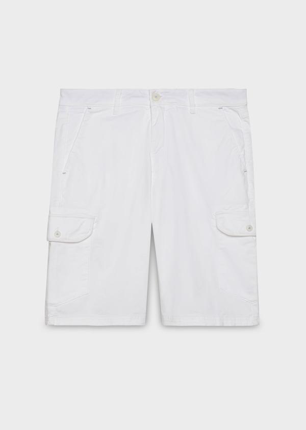 Bermuda cargo en coton uni blanc - Father and Sons 20381
