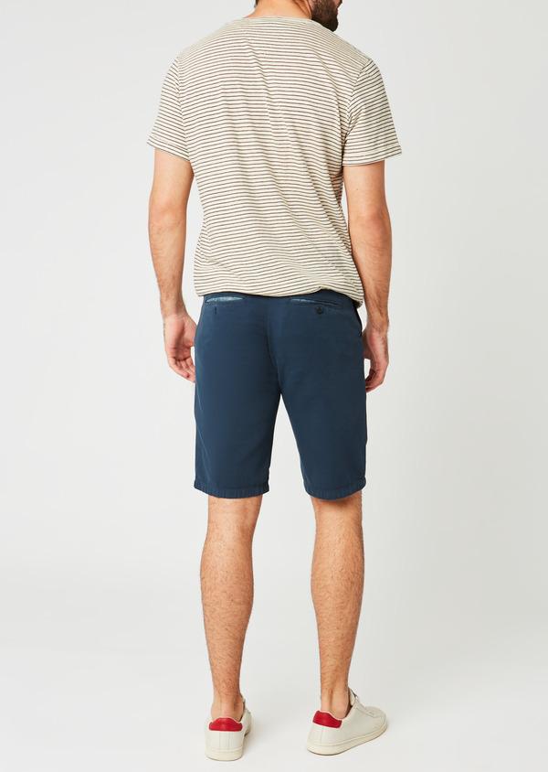 Bermuda en coton uni bleu indigo - Father and Sons 20390