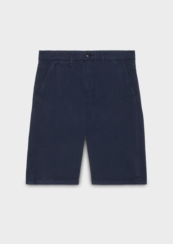 Bermuda en coton uni bleu indigo - Father and Sons 20387
