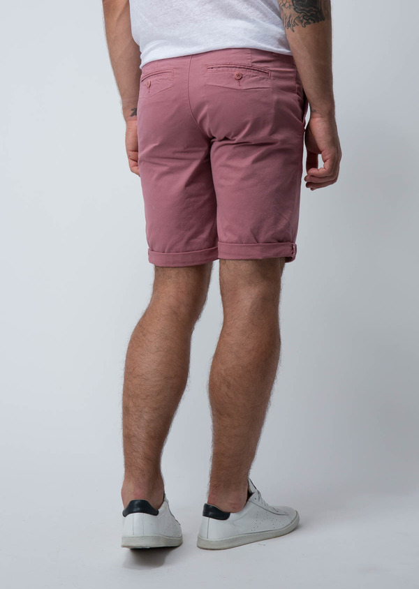 Bermuda en coton stretch uni rose - Father and Sons 18857