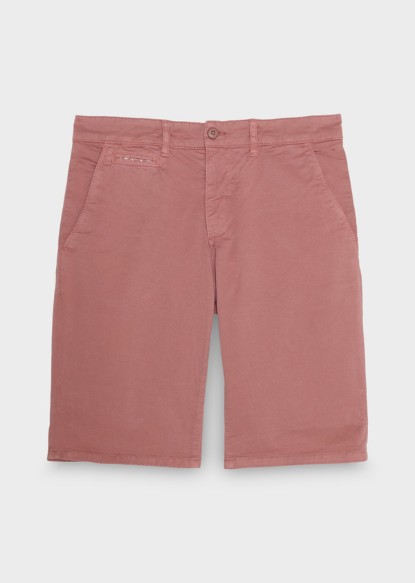 Bermuda en coton stretch uni rose - Father and Sons 18855