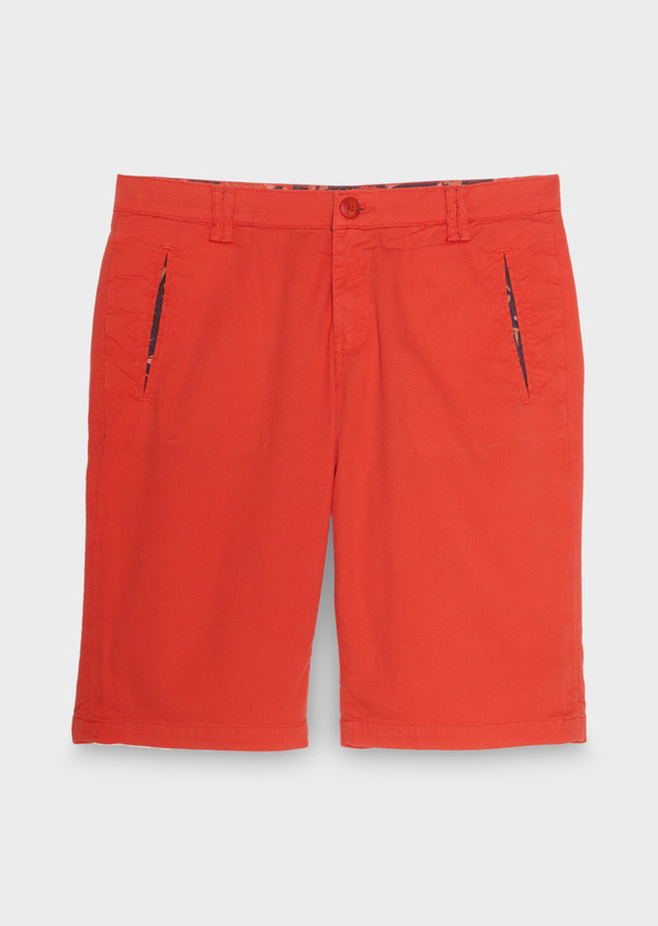 Bermuda en coton stretch uni orange - Father and Sons 18826