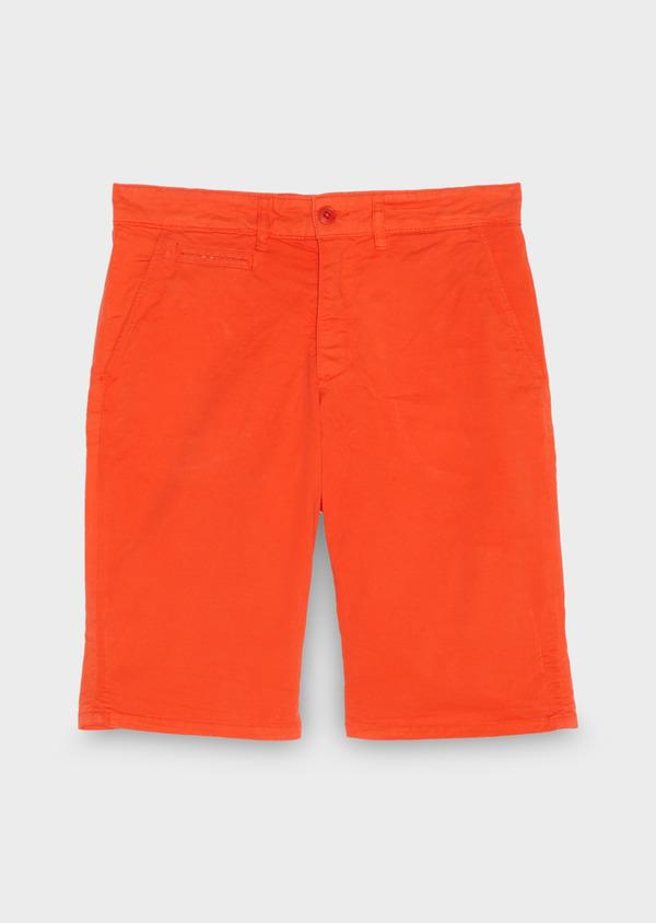 Bermuda en coton stretch orange uni - Father and Sons 18869
