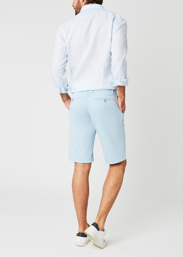 Bermuda en coton stretch uni bleu ciel - Father and Sons 20048