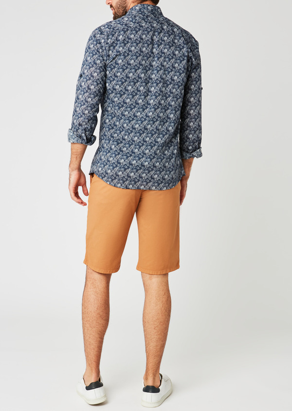 Bermuda en coton stretch uni camel - Father and Sons 20066