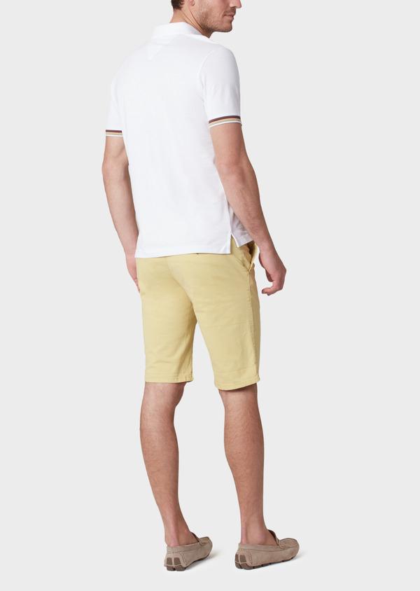 Bermuda en coton stretch à motif fleuri jaune - Father and Sons 33781