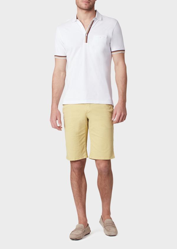 Bermuda en coton stretch à motif fleuri jaune - Father and Sons 33780