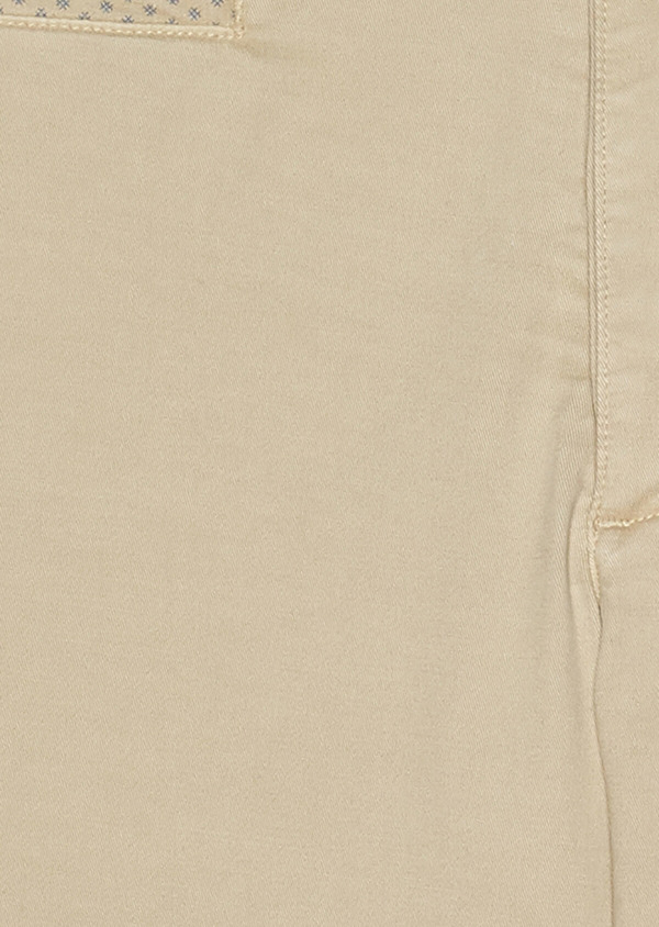 Bermuda en coton stretch uni beige - Father and Sons 33783
