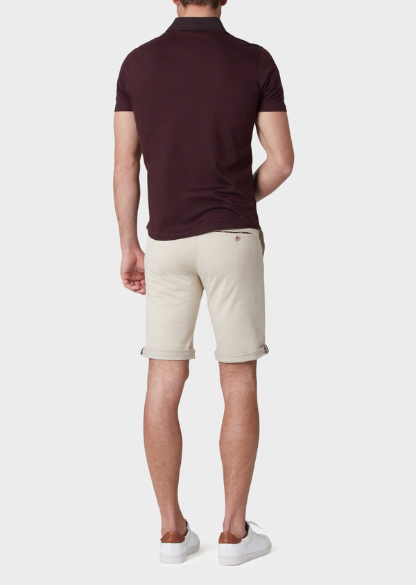 Bermuda en coton stretch uni beige - Father and Sons 33785