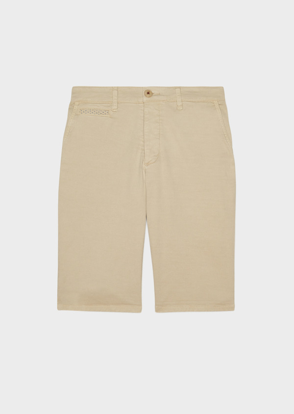 Bermuda en coton stretch uni beige - Father and Sons 33782