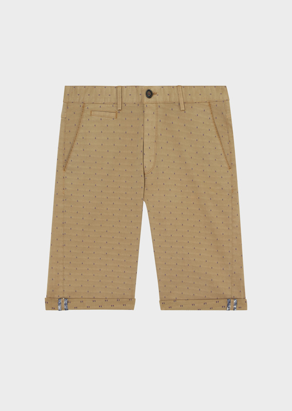 Bermuda en coton stretch uni camel - Father and Sons 33762