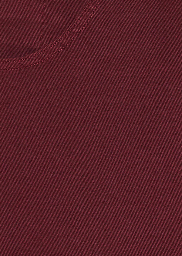 Bermuda en coton stretch uni rouge foncé - Father and Sons 33787