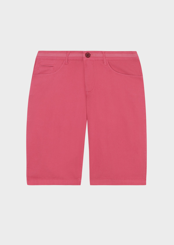 Bermuda en coton stretch uni rose - Father and Sons 33754