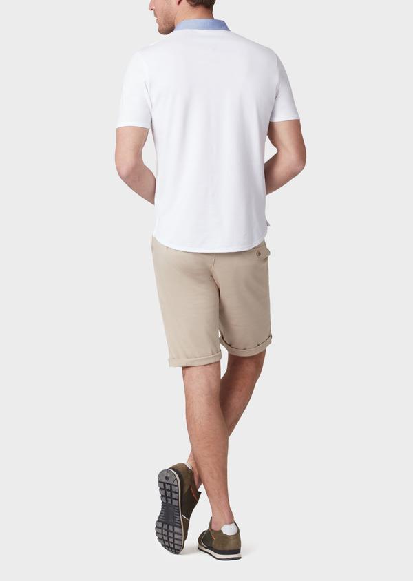 Bermuda en coton stretch uni beige - Father and Sons 33777