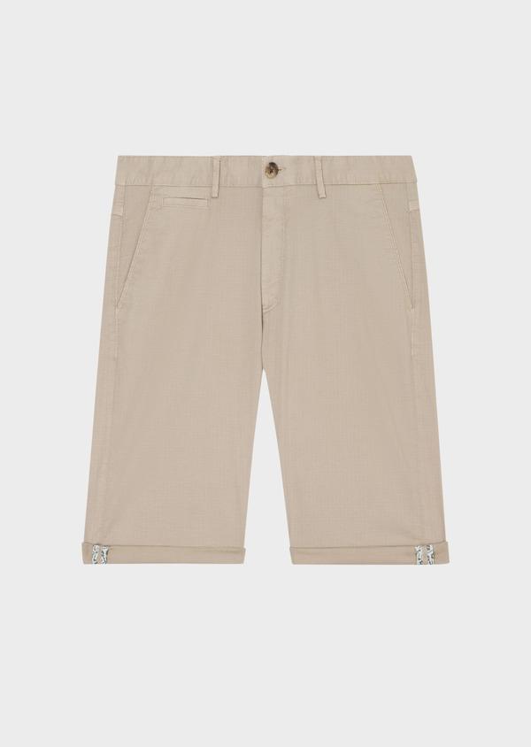 Bermuda en coton stretch uni beige - Father and Sons 33774