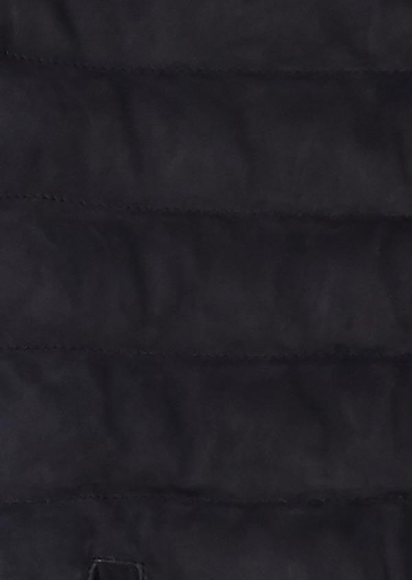 Doudoune en cuir nubuck bleu indigo - Father and Sons 25603