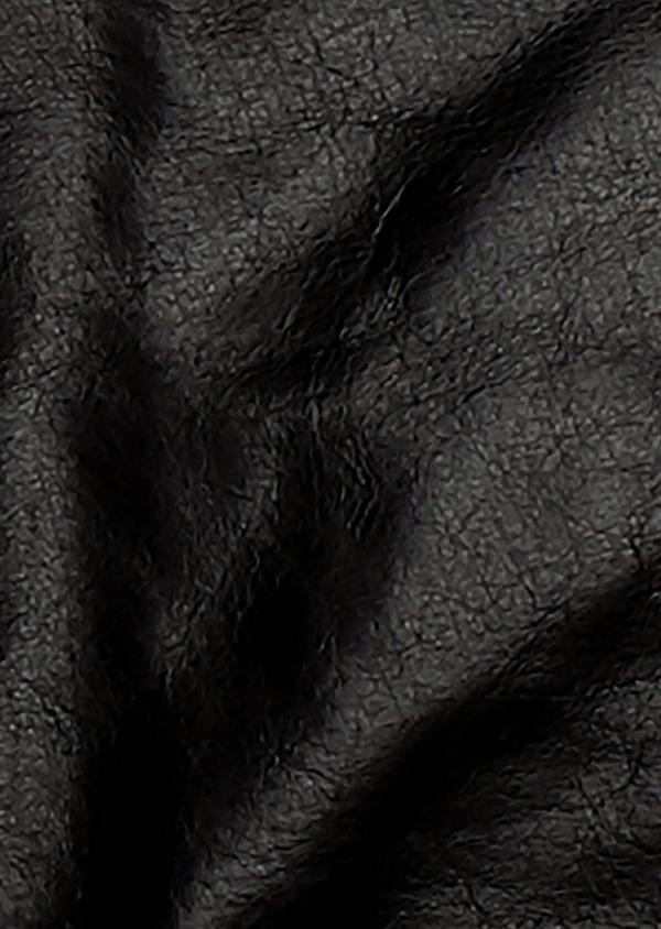 Blouson Biker en cuir uni marron à capuche amovible - Father and Sons 25565