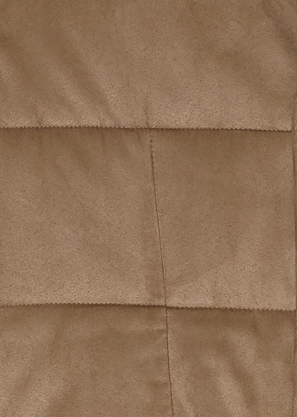 Veste en suédine unie beige foncé à doudoune intérieure amovible - Father and Sons 25621