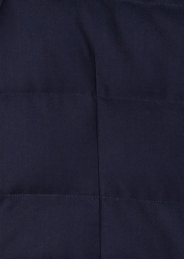 Parka unie bleu indigo à capuche amovible - Father and Sons 27501