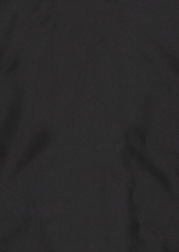 Parka unie noire à capuche amovible - Father and Sons 27459