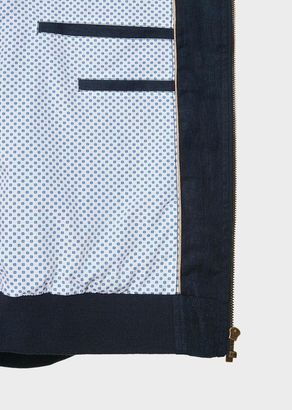 Blouson en lin et coton uni bleu - Father and Sons 31994