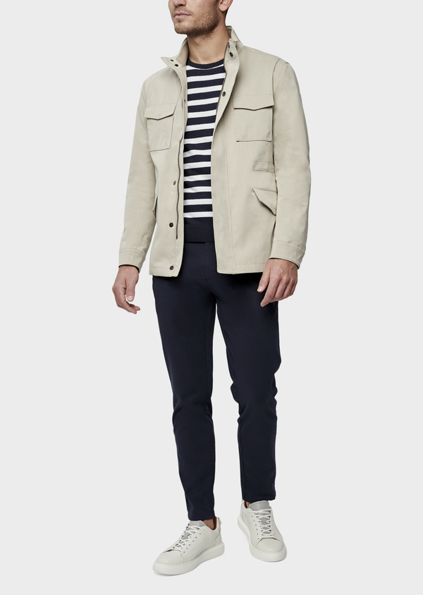 Parka courte unie beige - Father and Sons 38542