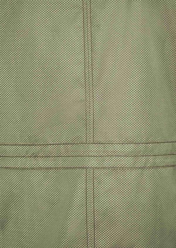 Parka courte unie vert kaki à capuche amovible - Father and Sons 39024