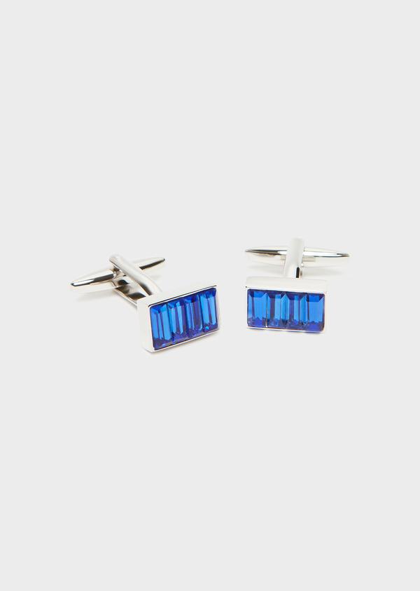 Boutons de manchettes rectangulaires bleu foncé - Father and Sons 32018