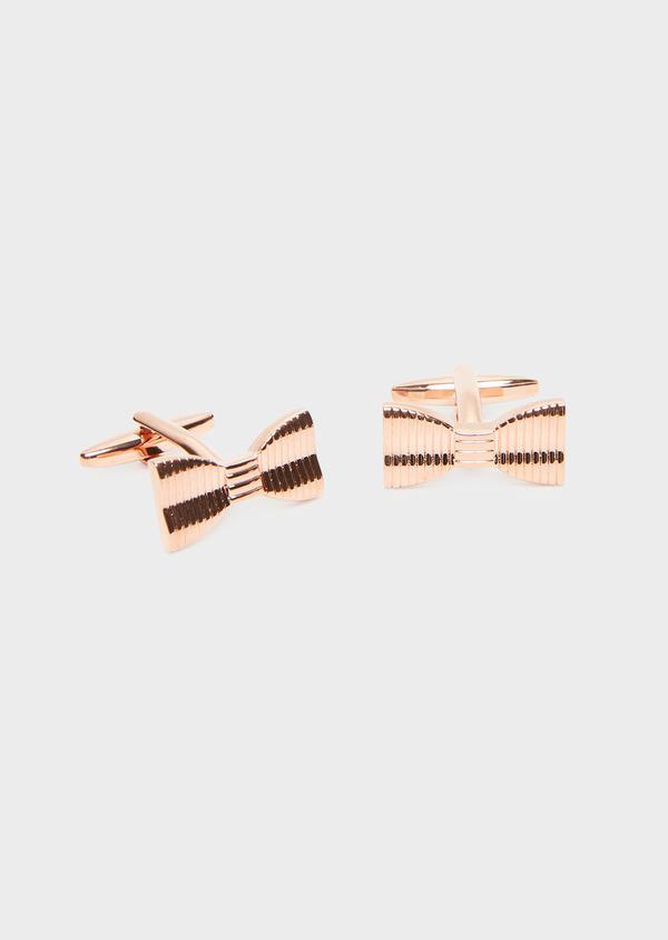 Boutons de manchettes noeuds-papillon dorés - Father and Sons 32032