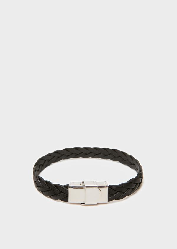 Bracelet en cuir tressé noir - Father and Sons 31903